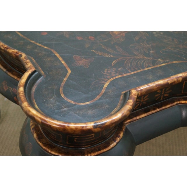 Maitland-Smith Chinoiserie Decorated Coffee Table - Image 5 of 10