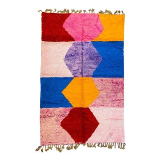 1960s Moroccan Beni Ourain Rug-6′4″ × 9′10″ For Sale
