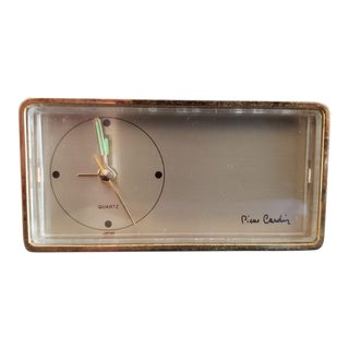 1970s Vintage Pierre Cardin Small Shelf Clock For Sale