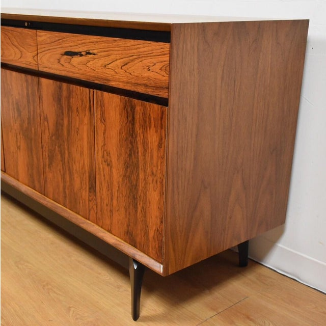 Mid-Century Rosewood and Walnut Credenza - Image 6 of 11