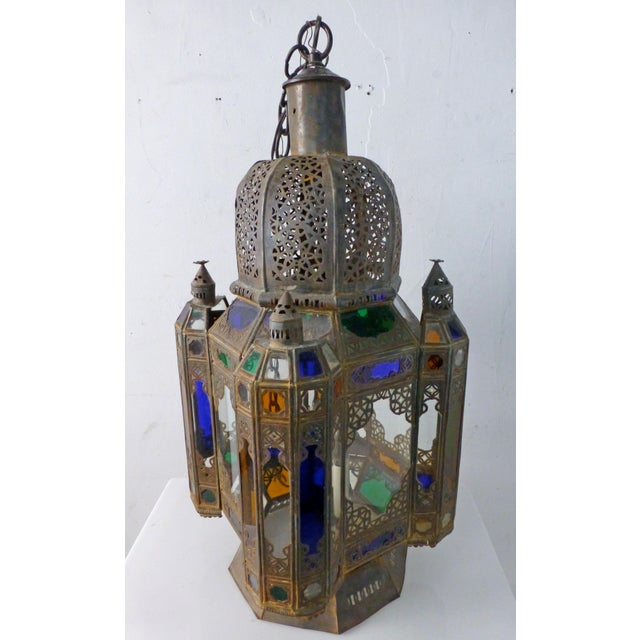 Vintage 1960s Moroccan Moorish Statement Chandelier For Sale In Los Angeles - Image 6 of 10