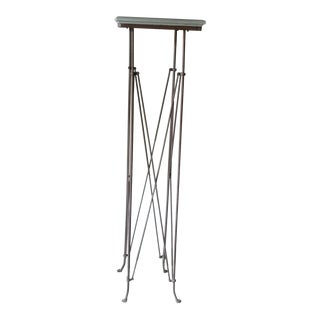 Empire-Style Iron and Wood Tall Stand