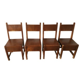 1930s Vintage New Mexican WPA Side Chairs - Set of 4 For Sale