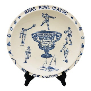 Antique New Orleans Sugar Bowl Platter