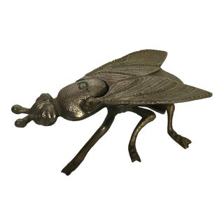 Vintage Brass Insect With Lid