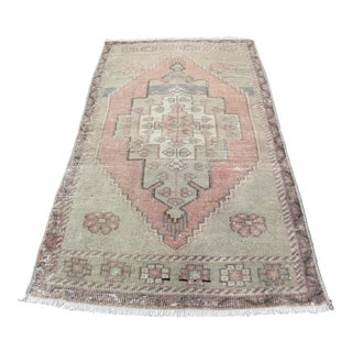 Muted Tone Turkish Rug - 1′8″ × 2′11″