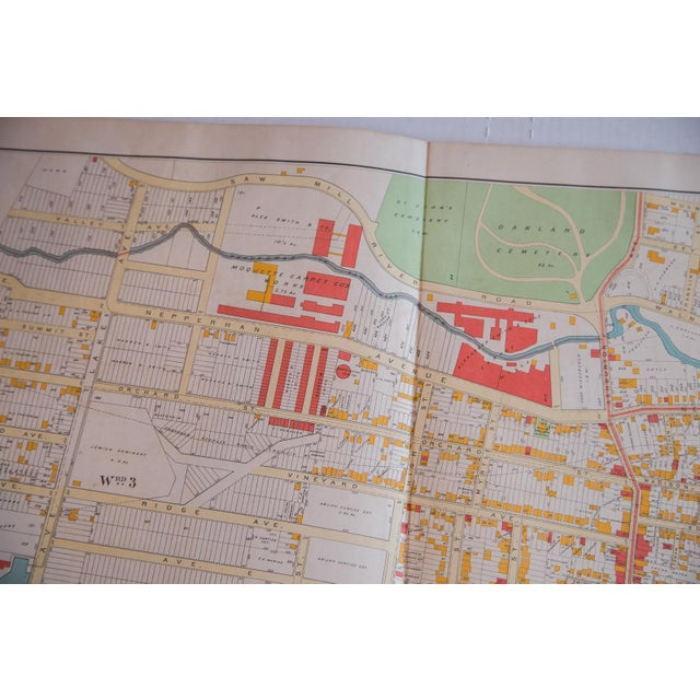 Industrial Antique Yonkers, New York Map For Sale - Image 3 of 3