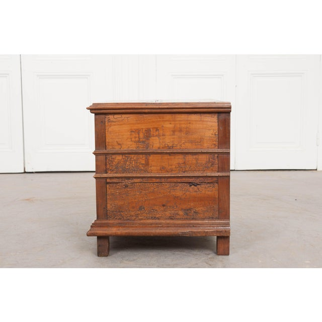 Brown 18th Century French Louis XIII Walnut Trunk For Sale - Image 8 of 12