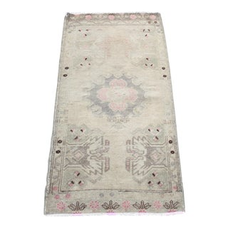Turkish Anatolian Organic Wool Rug - 1′11″ × 3′8″