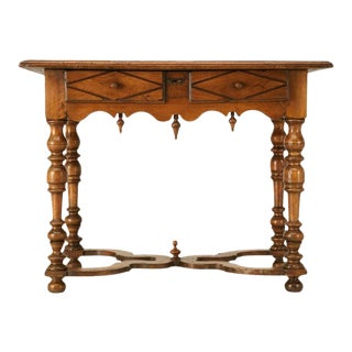18th C. Antique French Fruitwood Writing Table For Sale