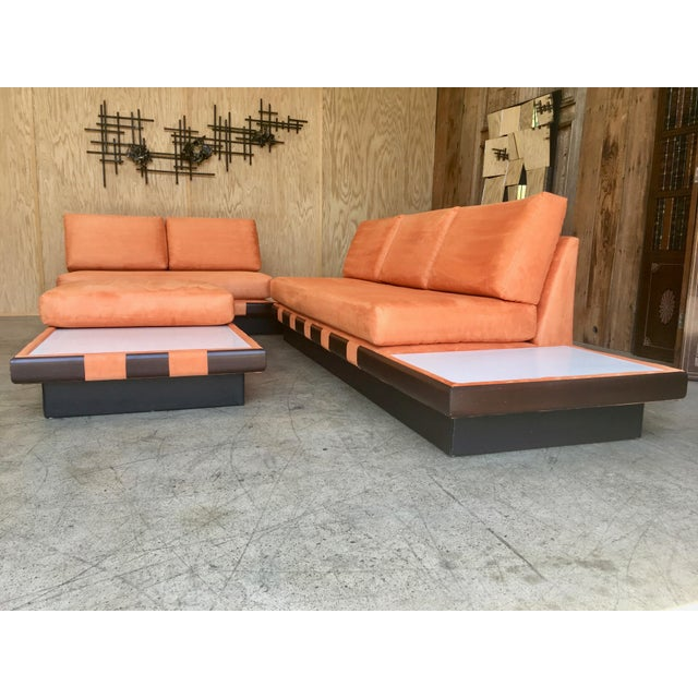 20th Century Adrian Persall Style Sofa Sectional and Coffee Table - 3 Pieces For Sale - Image 11 of 13