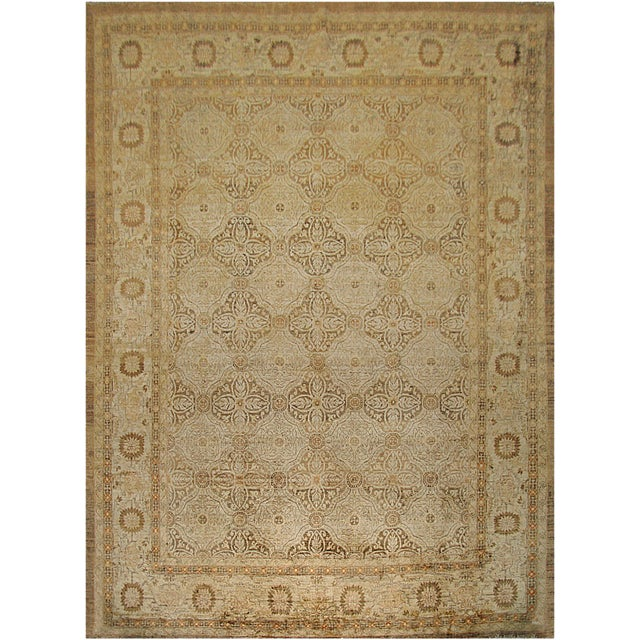 "Mansour Genuine Handwoven Agra Rug - 8'2"" X 10'9"" For Sale"