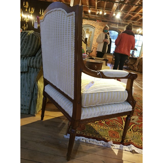 Modern Lewis Mittman Fauteuil in Cream Velvet From Waldorf Astoria New York For Sale - Image 3 of 12