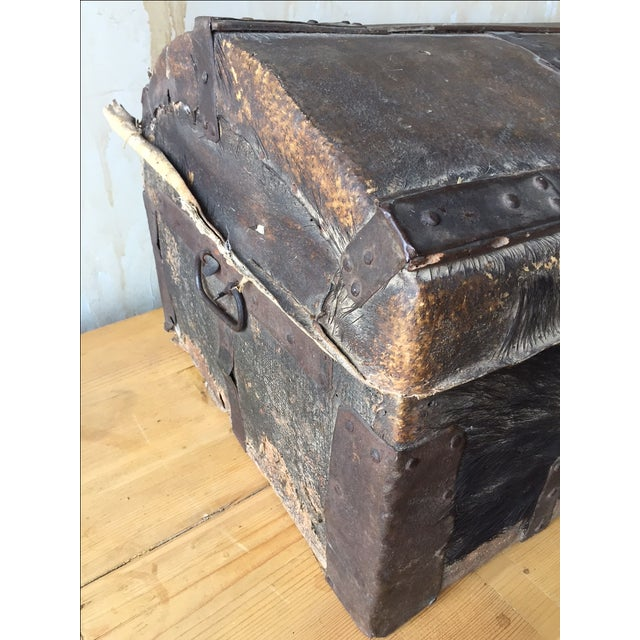 18th Century Antique Italian Trunk For Sale - Image 7 of 7