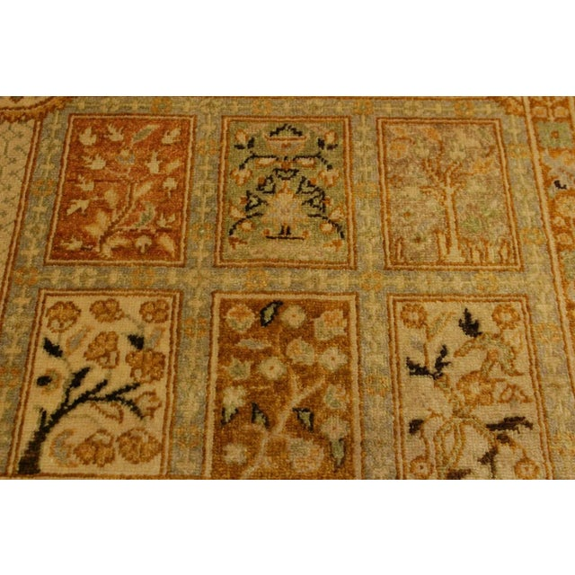 1980s Semi Antique Istanbul Cammy Tan/Gold Turkish Hand-Knotted Rug -4'2 X 6'0 For Sale - Image 5 of 8