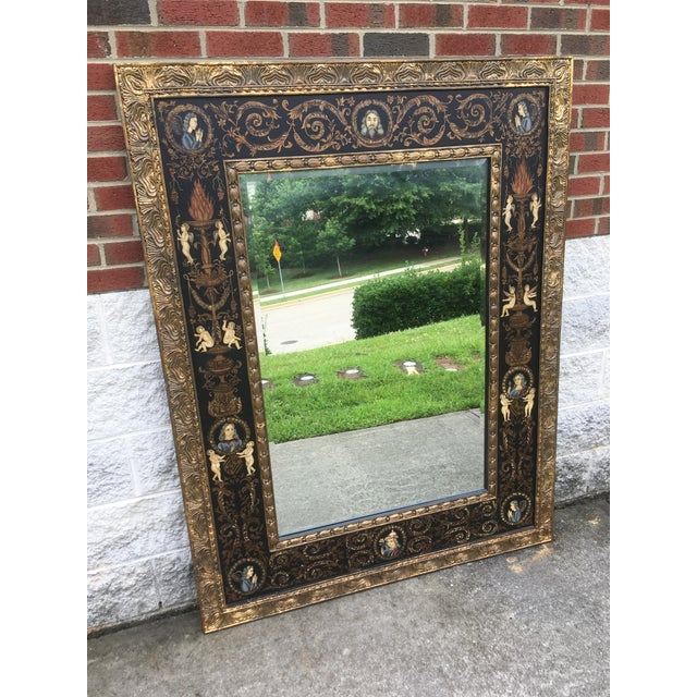 Large Classically Themed Wall Mirror - Image 3 of 5