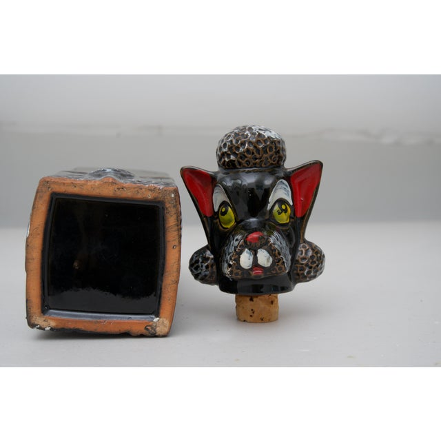 Mid-Century Vintage Poodle Decanter For Sale In West Palm - Image 6 of 7