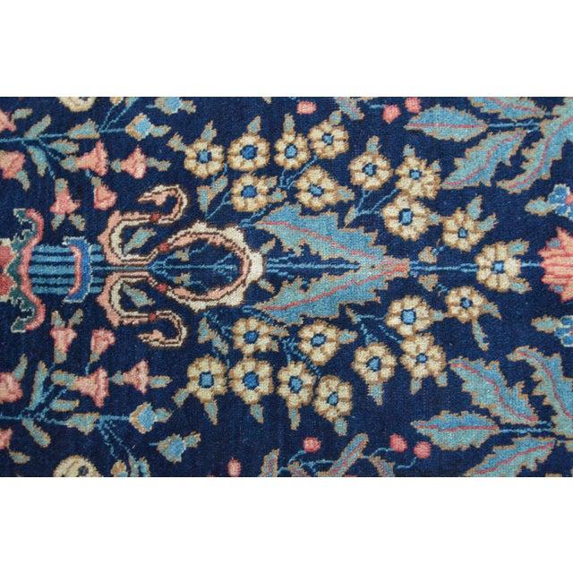 "Vintage Persian Sarouk Rug - 6'10"" X 11' - Image 7 of 10"