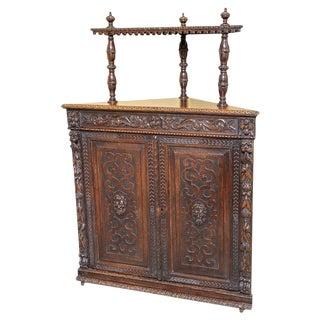 English corner cabinet For Sale