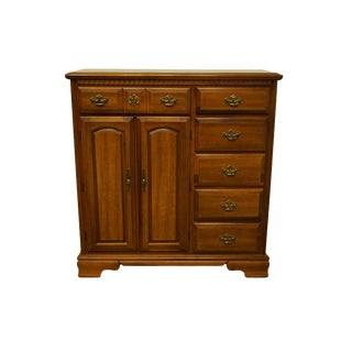 Bassett Furniture Virginia Colony Collection Maple Armoire For Sale
