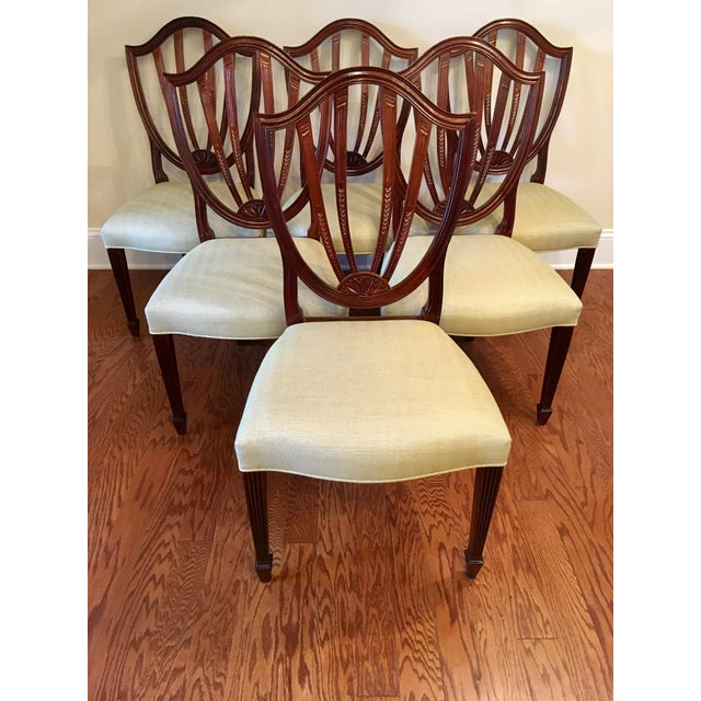 Baker Shield Back Mahogany Dining Chairs - Set of 6 For Sale - Image 10 of 10