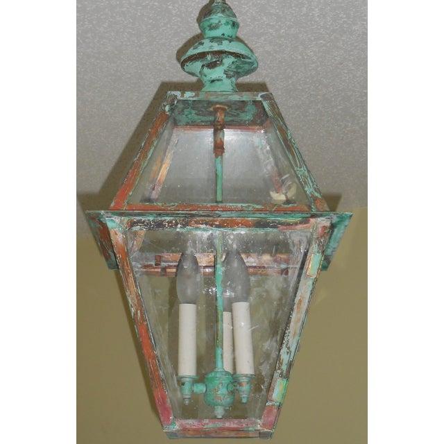 Rustic Copper Hanging Lantern - Image 4 of 10