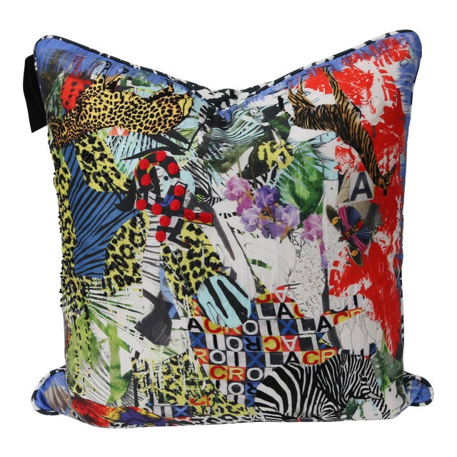 Modern Multi-Colored Christian Lacroix Pillow - Image 1 of 7