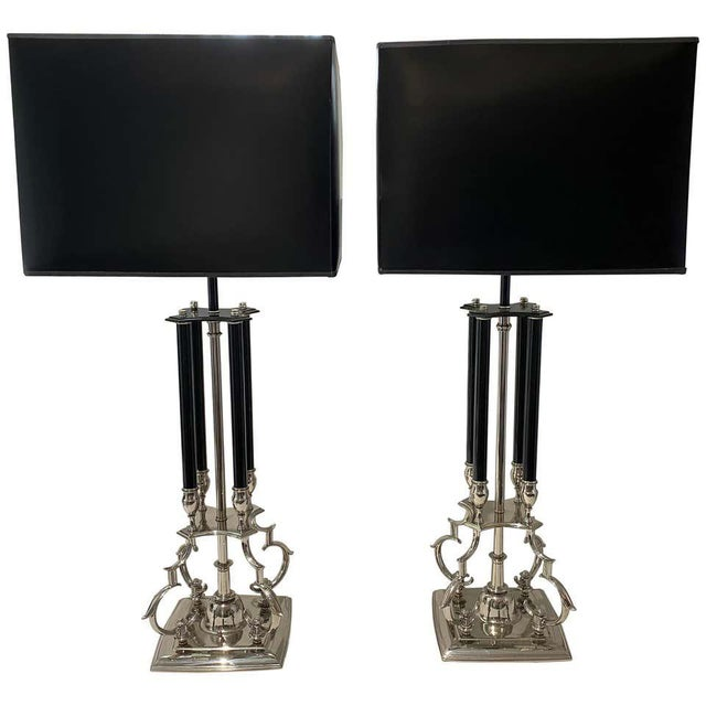 Mid-Century Modern Tommi Parzinger for Stiffel Table Lamps - a Pair For Sale - Image 12 of 12