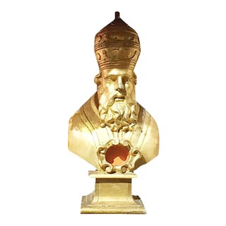 Carved Italian Bishop With Original Gilding For Sale