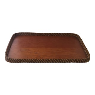 Hand-Made Pine Needle & Wood Tray