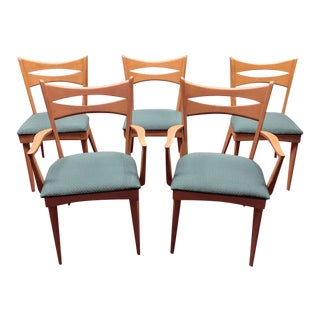 Heywood Wakefield Vintage Dining Chairs - Set of 5 For Sale