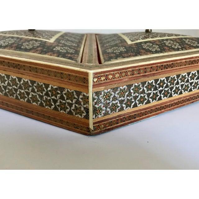 Khatam Kari Double Lidded Box For Sale - Image 4 of 5