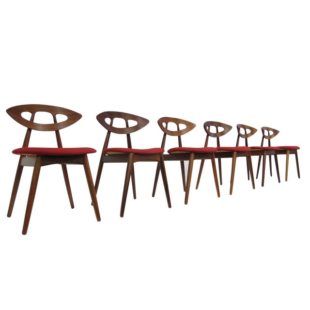 """8 Ejvind A. Johansson Dining """"Eye"""" Chairs For Sale In San Francisco - Image 6 of 11"""