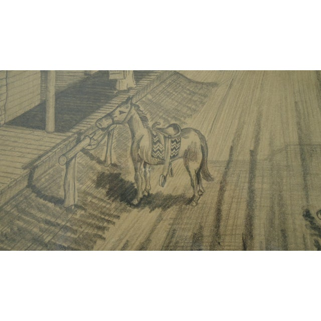 """Vintage Bob Everett """"Centennial Before the Storm"""" Drawing For Sale - Image 6 of 7"""