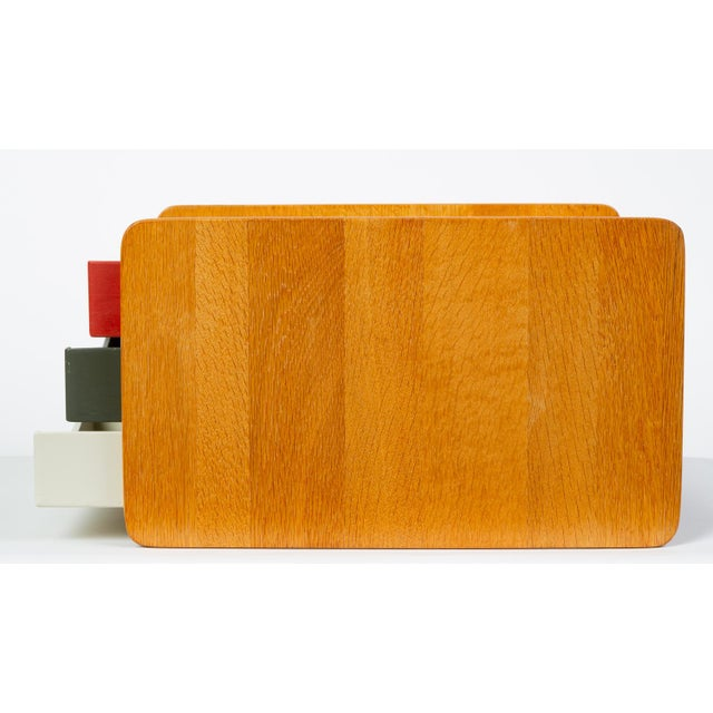 Metal Oak Desk Organizer With Painted Drawers by Børge Mogensen for Karl Andersson For Sale - Image 7 of 12