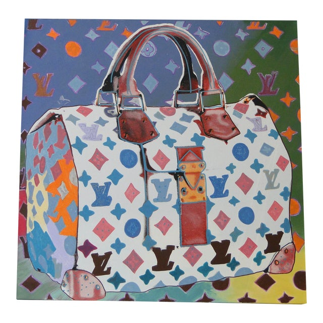 """""""Louis Vuitton Bag,"""" State II (Multi-Colored) Painting by Steve Kaufman (Sak) For Sale"""