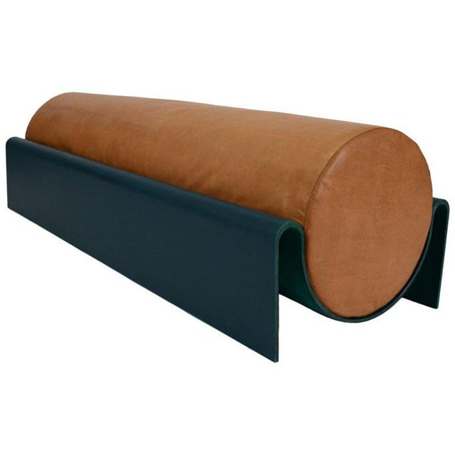 Not Yet Made - Made To Order Asa Pingree Monitor Fiberglass Upholstered Bench in Leather, Limited Edition of 10 For Sale - Image 5 of 5