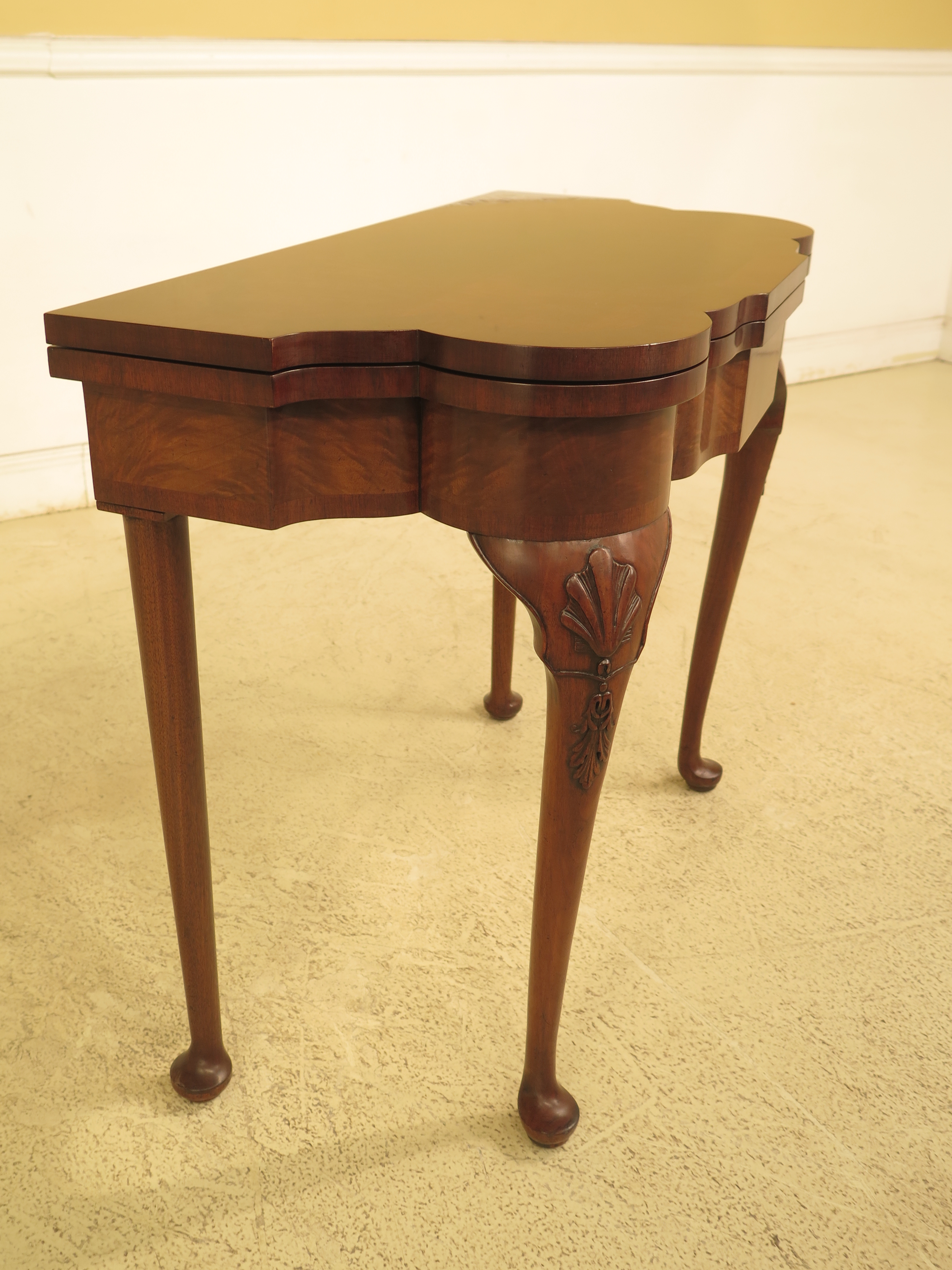 L29650ec: Mastercraft George III Walnut Flip Top Game Table For Sale In  Philadelphia   Image