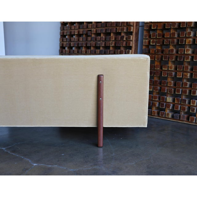 Vintage Mid Century Edward Wormley for Dunbar Bracket Back Sofa For Sale - Image 9 of 10