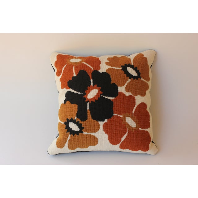 Mod Poppy Needlepoint Pillow - Image 6 of 6