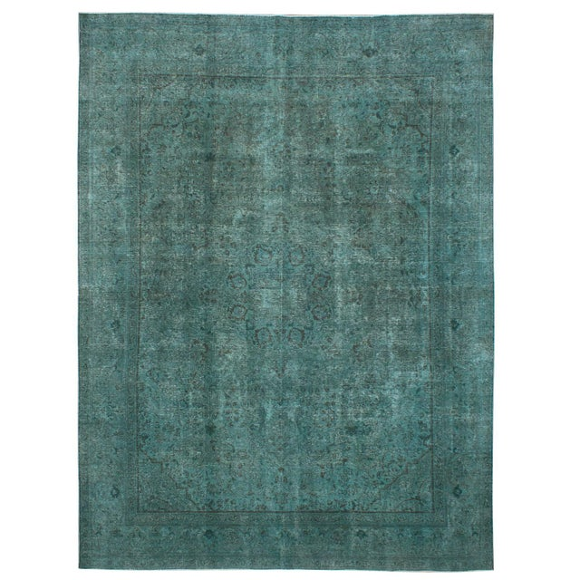 """Persian Green Overdyed Rug - 9'11"""" x 13'1"""" - Image 1 of 2"""