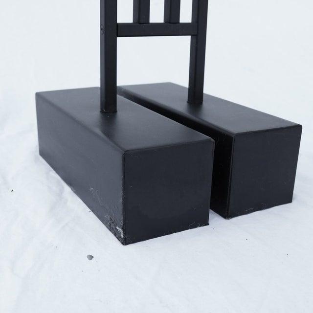 Black Vintage Robert Sonneman Torchieres - A Pair For Sale - Image 8 of 10