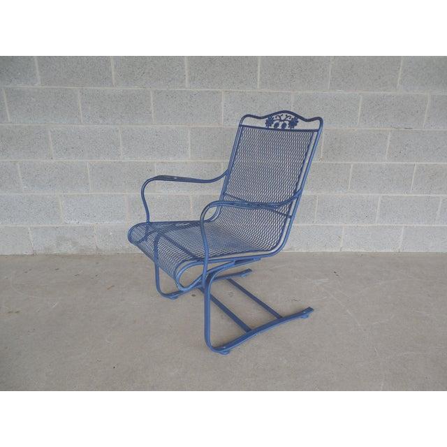 Vintage Woodard Briarwood High Back Spring Base Chair Model #1A052904 - Image 2 of 8