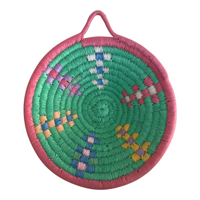 African Pastel Grain Basket For Sale