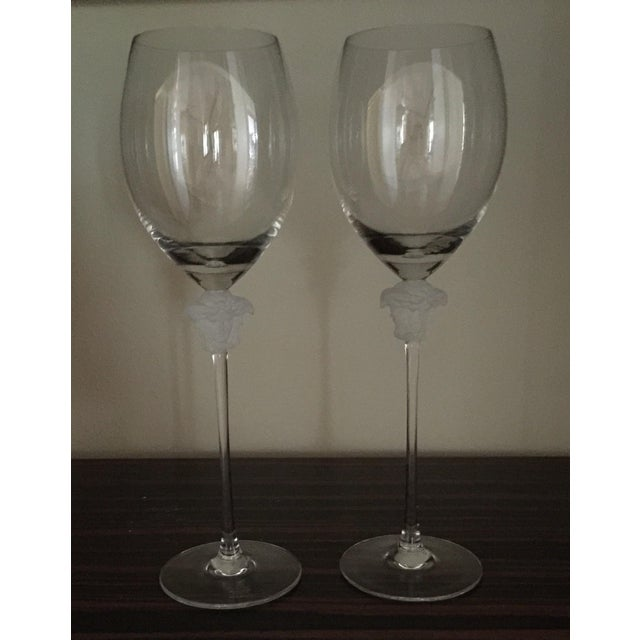 Versace Wine Goblets - A Pair - Image 2 of 3