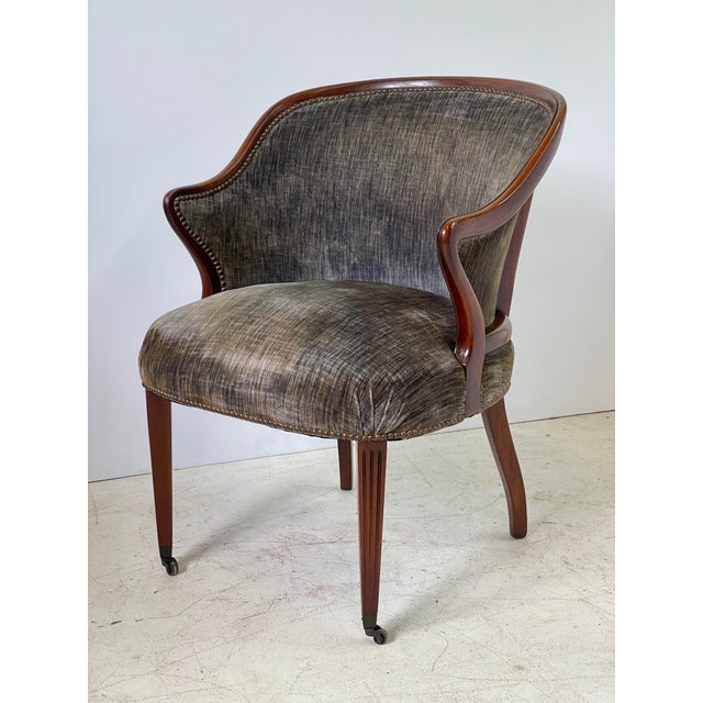 Art Deco Armchair of Mahogany, Circa 1940s For Sale - Image 12 of 13