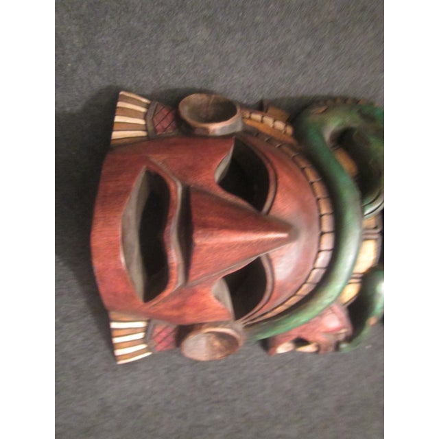 Primitive Vintage Tiki Mask Sculpture For Sale - Image 3 of 10