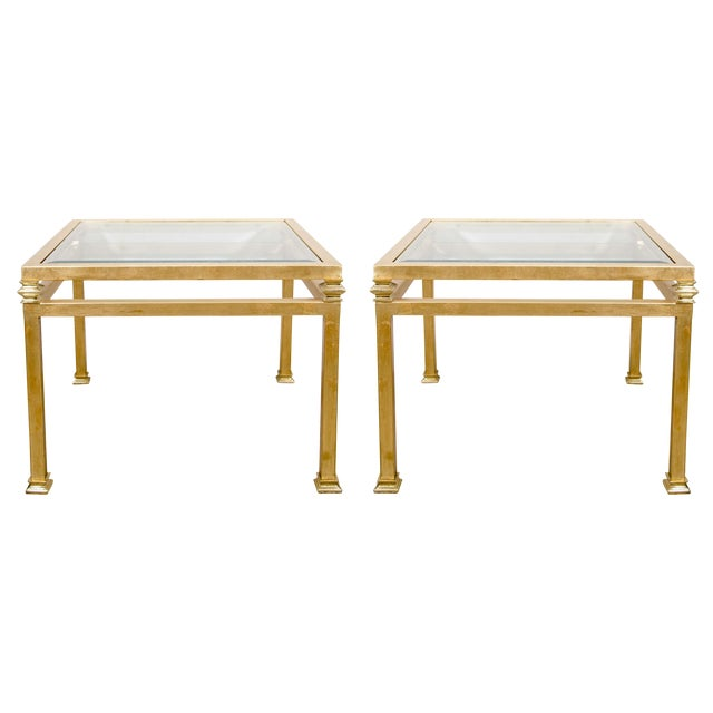 Pair of Gilt Iron Side Tables For Sale - Image 10 of 10