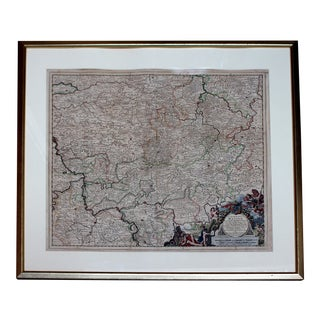 Late 17th Century Hand Colored Engraving Map of Hesse by Theodorus Danckert For Sale