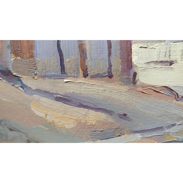 """Paint Fritz Kocher """"Sunset Blvd and Bunkerhill L.A. 1959"""" Original Oil Painting For Sale - Image 7 of 11"""